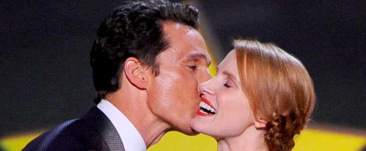 Jessica Chastain Gets a Sweet Kiss From Matthew McConaughey