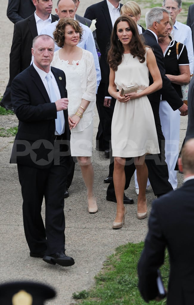 Kate Middleton was joined by a big entourage.