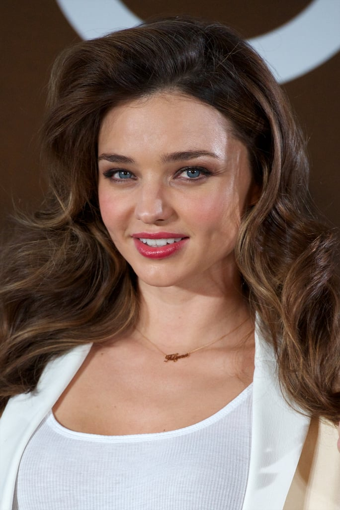 Miranda Kerr smiled while out in Madrid.