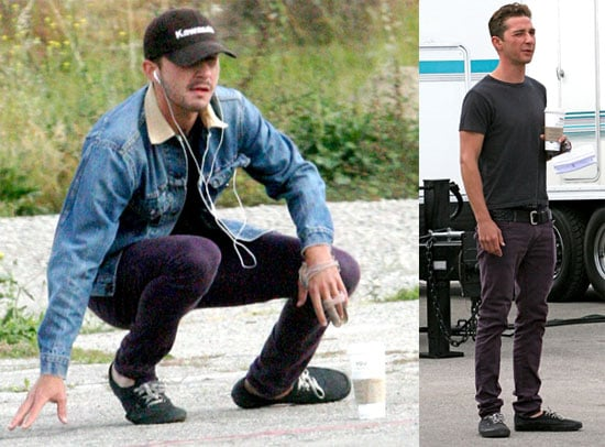 Photos of Shia LaBeouf on the Set of Transformers 2