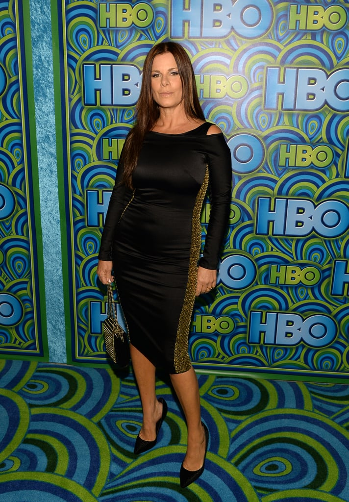 Marica Gay Harden slipped into a curve-hugging sheath, with subtle shoulder slits, for the HBO festivities.