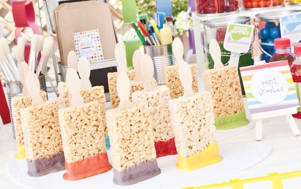 Rice Krispies Treat Paint Brushes