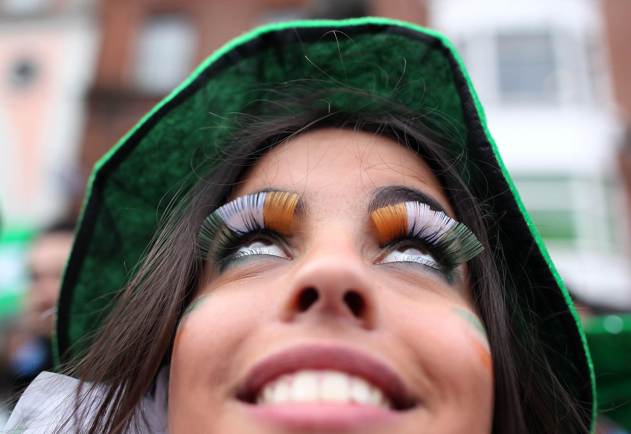 Fly the Irish flag on your eyelashes.