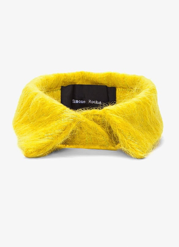 How cute would this Simone Rocha Yellow Mohair Collar ($190) look with a black fit-and-flare dress.