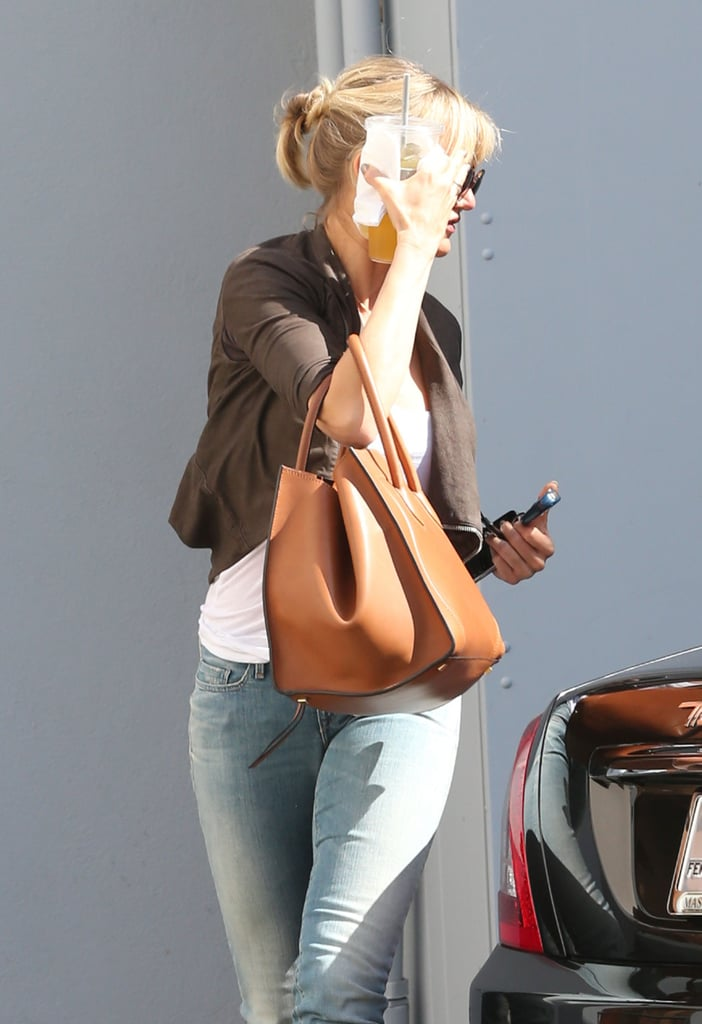 Cameron Diaz made her way back to her car in Beverly Hills.