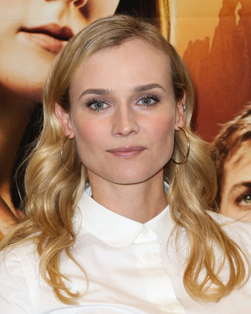 Leave it to Diane Kruger to prove that lavender eye shadow is prettier and more wearable than you'd ever expect. Ground the pastel hue with a taupe shadow at the crease to make it feel more natural, and bring it all together with a fresh glow on the cheeks and lips.