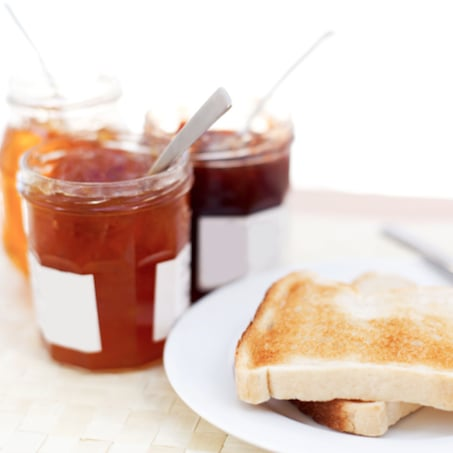 Calories in Toast Toppings Like Jam, Honey, and Peanut Butter