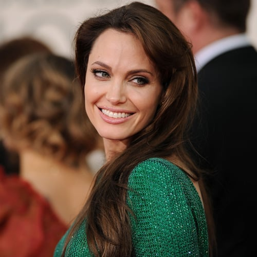 Angelina Jolie at Golden Globes 2011