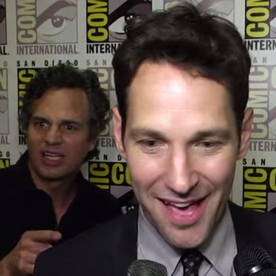 Mark Ruffalo Fangirling Over Paul Rudd at Comic-Con Video