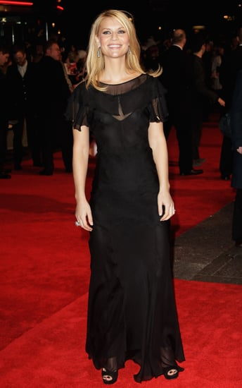 Claire Danes wearing sheer at the UK premiere of Me and Orson Welles