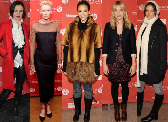 Photos of all the Celebs at Sundance Film Festival 2010 including Katie Holmes, Michelle Williams, Ryan Reynolds, Bradley Cooper