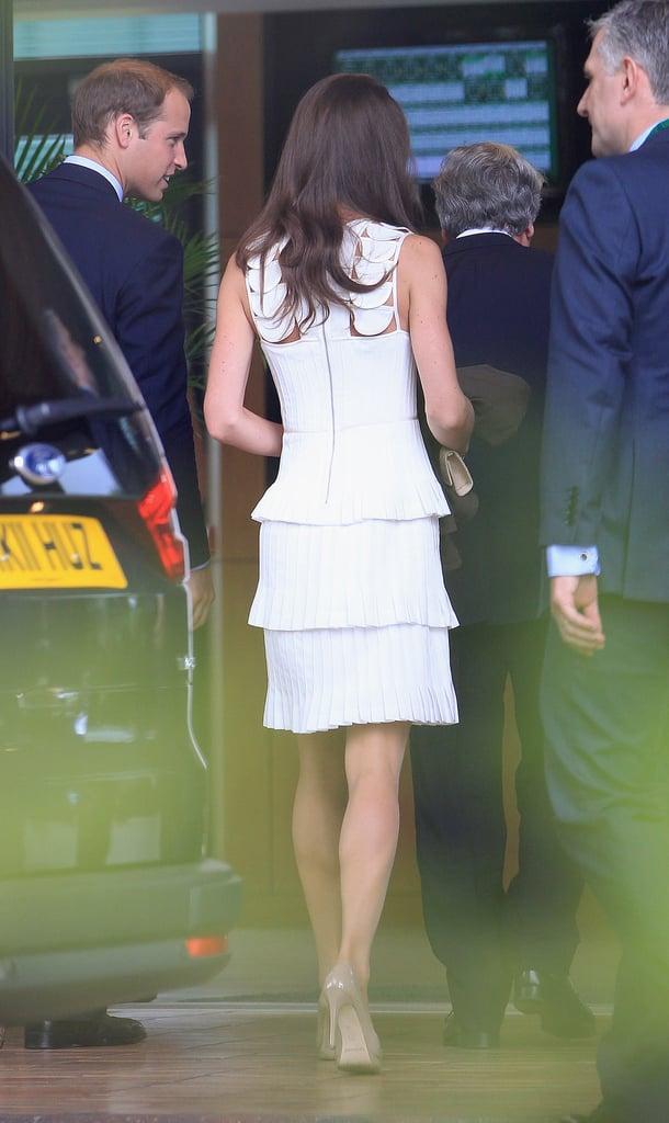 We love how deconstructed — and ruffled — Kate's Temperley London LWD is.
