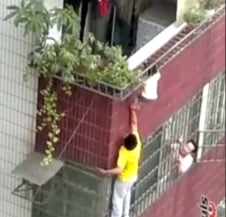 Toddler Saved from Certain Death by Getting His Head Caught (VIDEO)
