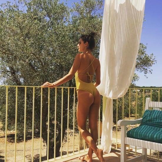Alessandra Ambrosio Wearing a Monokini July 2016