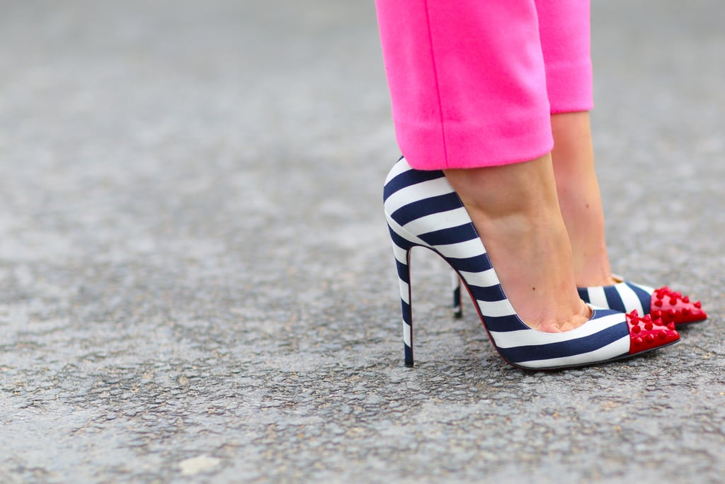 This shoe delivers just the right dose of whimsy to complement pink pants.