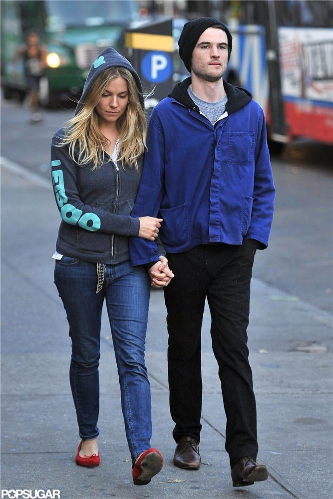 Sienna Miller and Tom Sturridge held hands while out together in NYC.