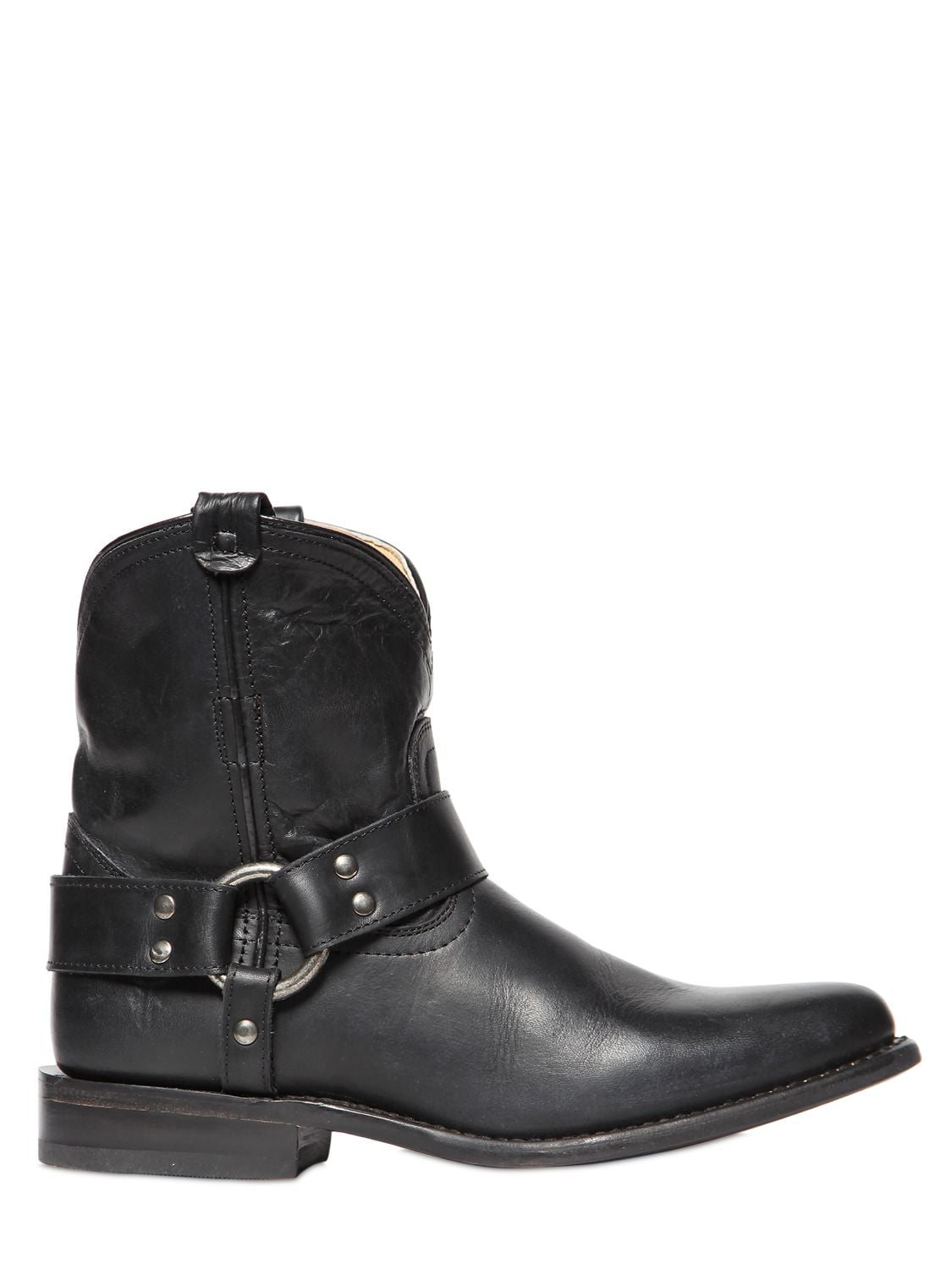 Frye leather cowboy boots ($370)