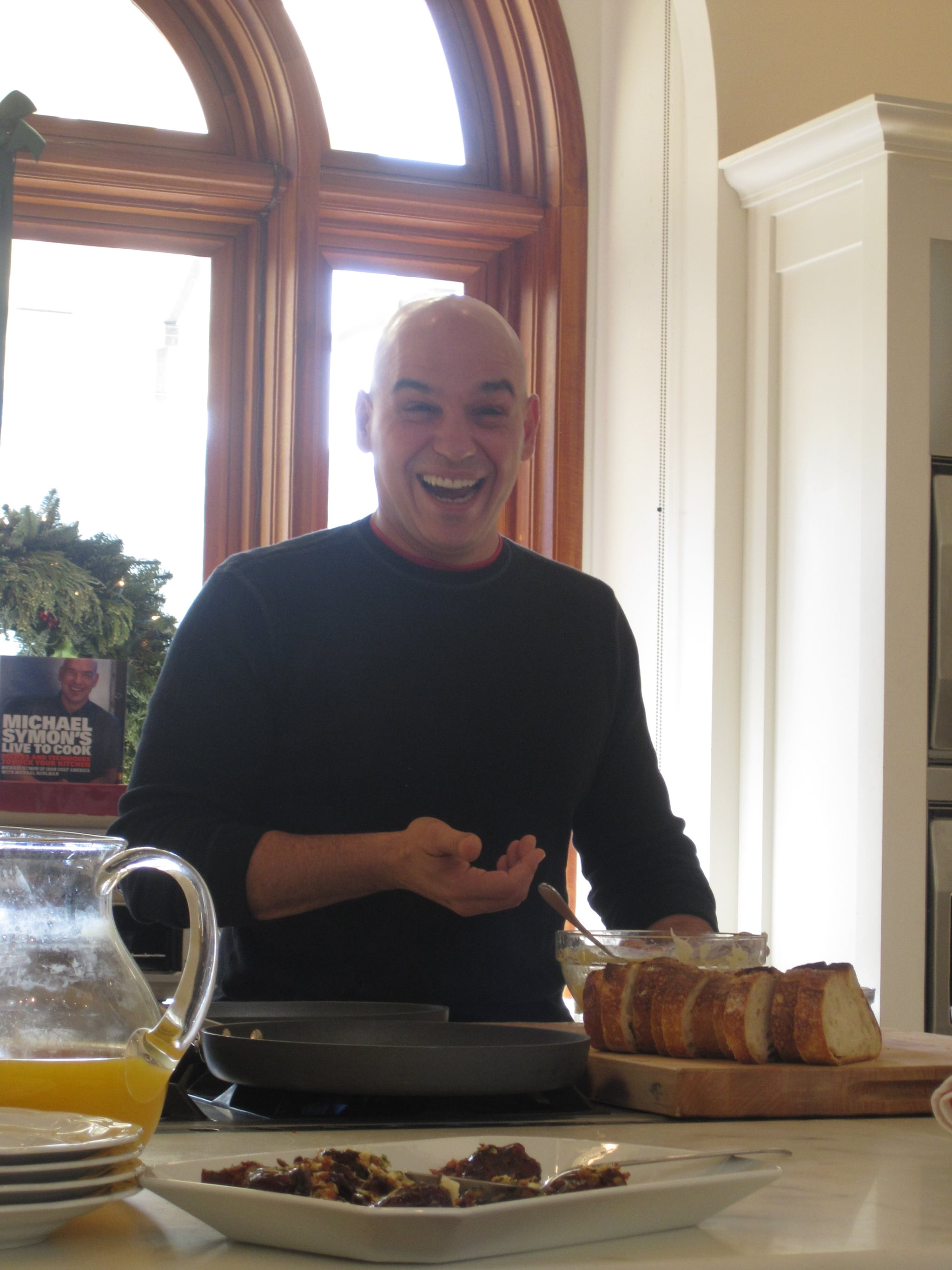 Michael Symon Makes Breakfast at Williams-Sonoma in San Francisco