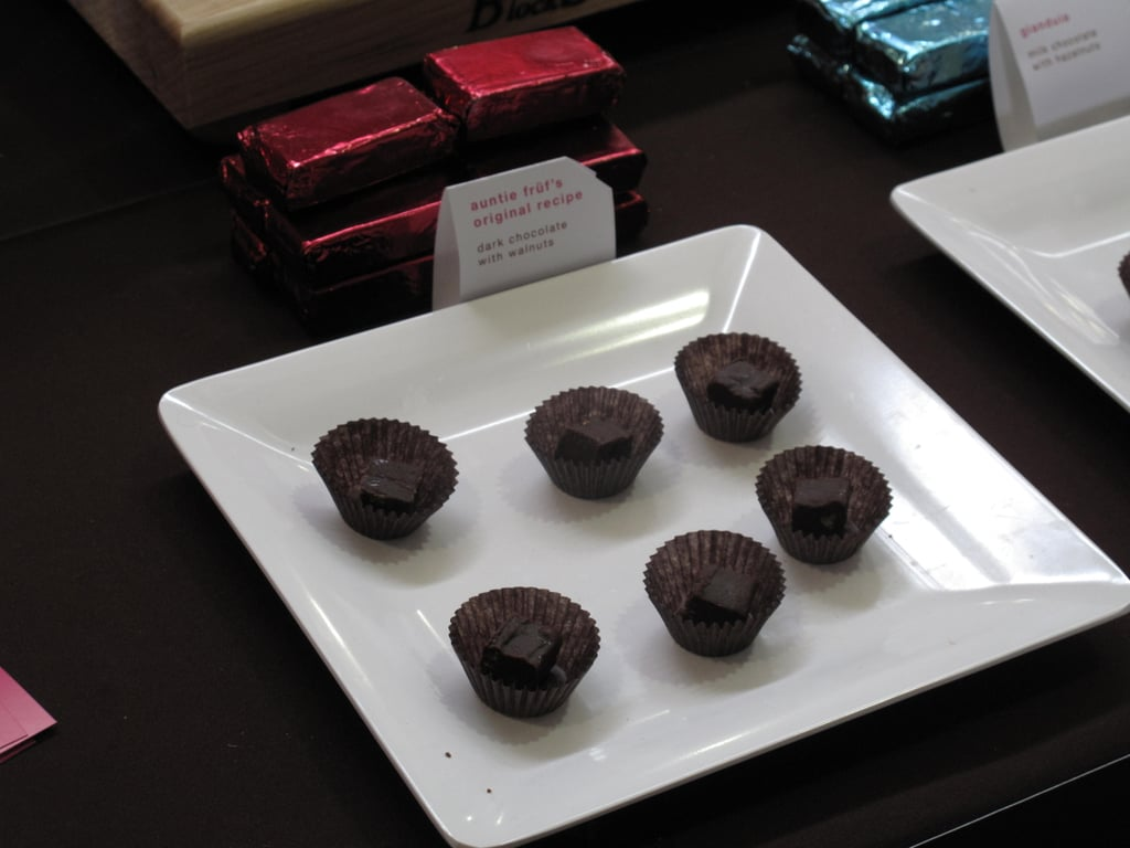 Dark chocolate fudge squares with walnuts from Aahsome Fudge.