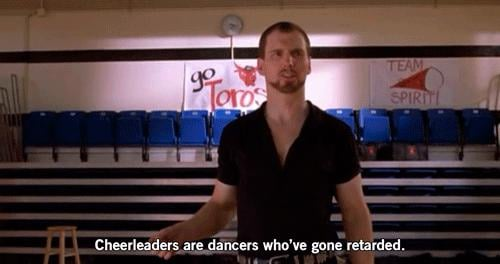 We also learned new things during our time with Bring It On. Like what a cheerleader REALLY is.