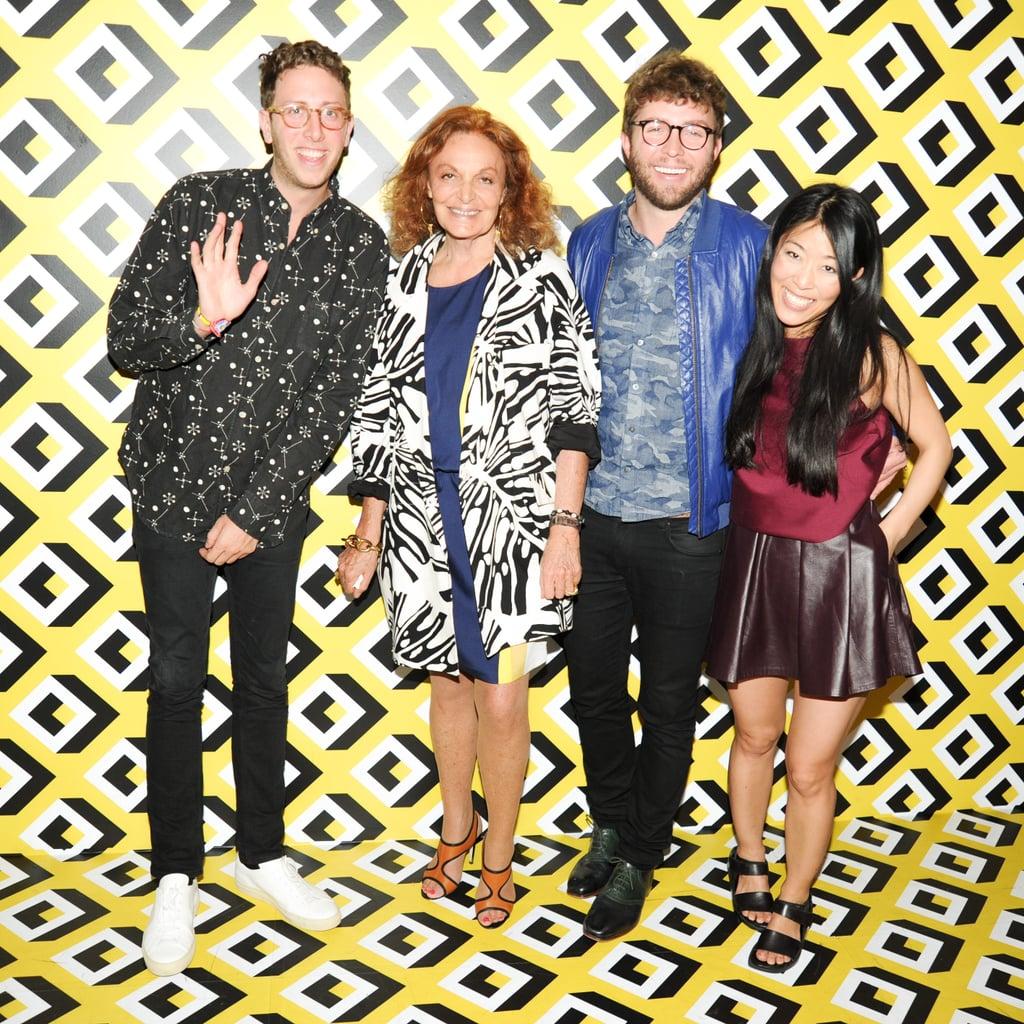 Alan Eckstein, Diane von Furstenberg, Timo Weiland, and Donna Kang