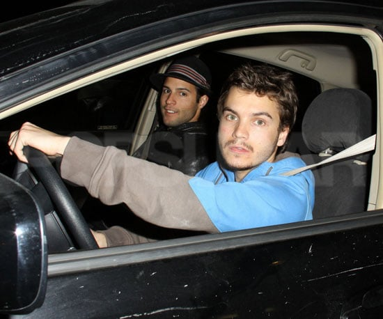 Slide Photo of Emile Hirsch Leaving Boa