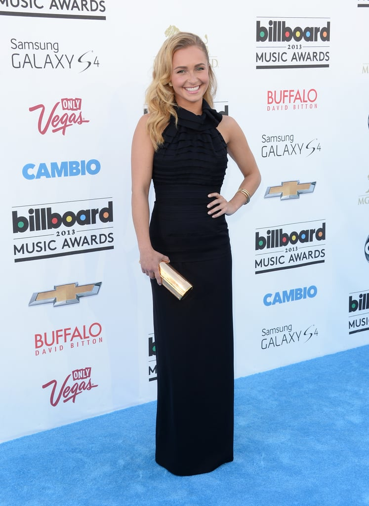 Hayden Panettiere was a vision in a simple black gown that featured a sleek asymmetrical neckline.