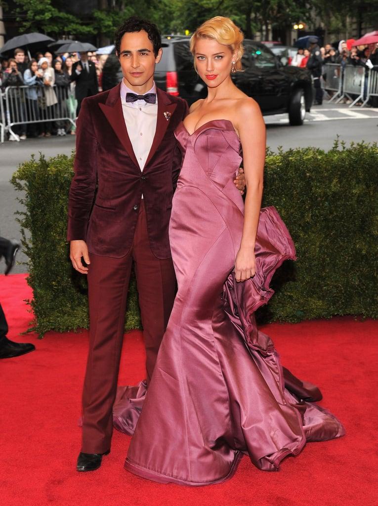 Zac Posen and Amber Heard