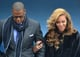 Cute R&B couple Jay-Z and Beyonce arrived at the Capitol for the official swearing in of President Obama.