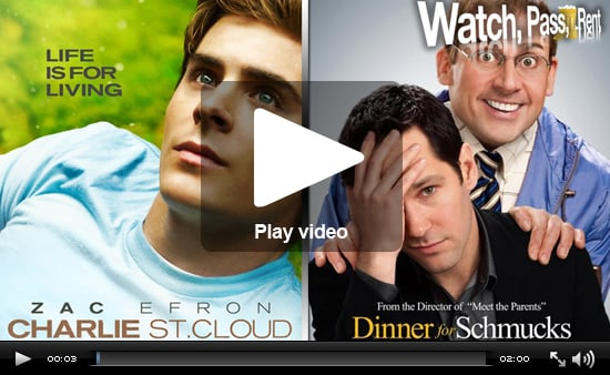 Video Movie Reviews of Charlie St Cloud and Dinner For Schmucks