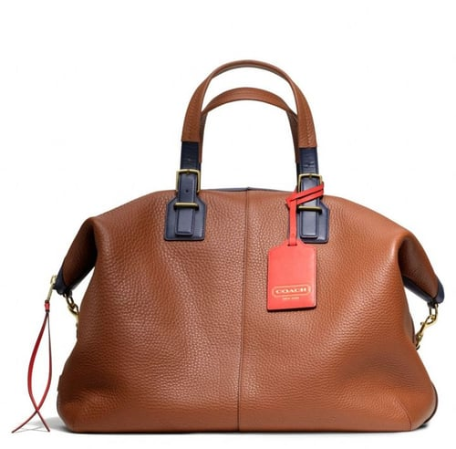 Soft Legacy Travel Satchel In Pebbled Leather