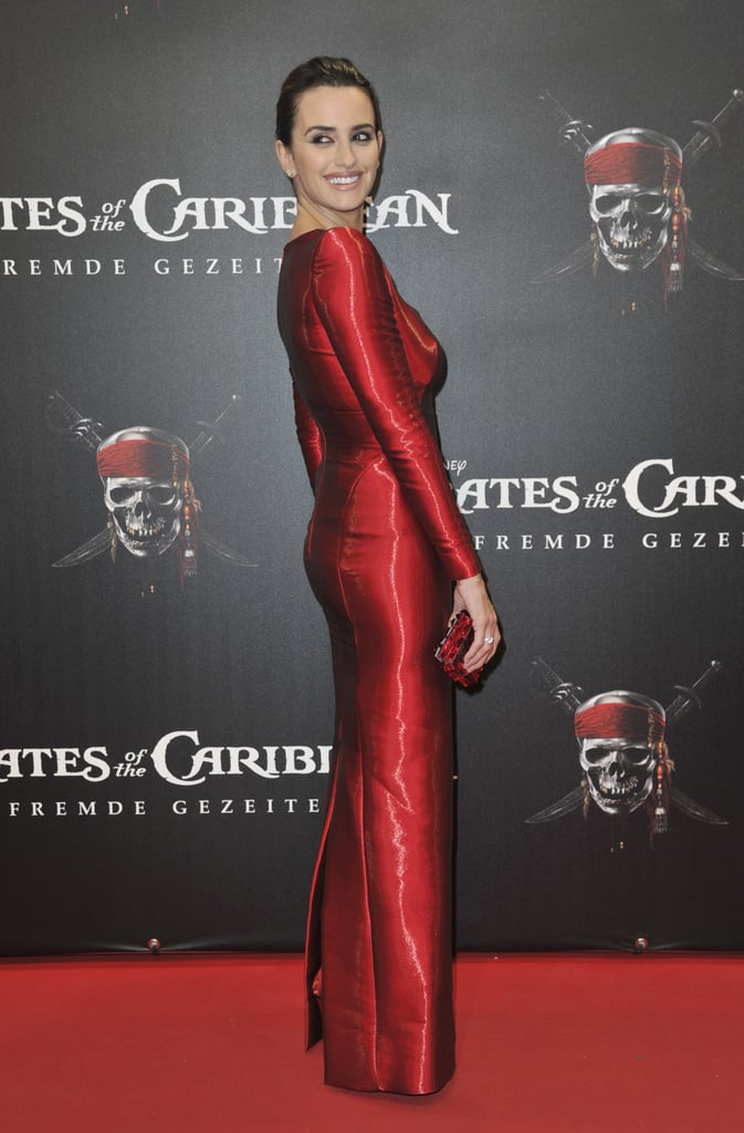 She showed off her curves in a fitted red column gown for the Berlin premiere of Pirates of the Caribbean: On Stranger Tides in May 2011.