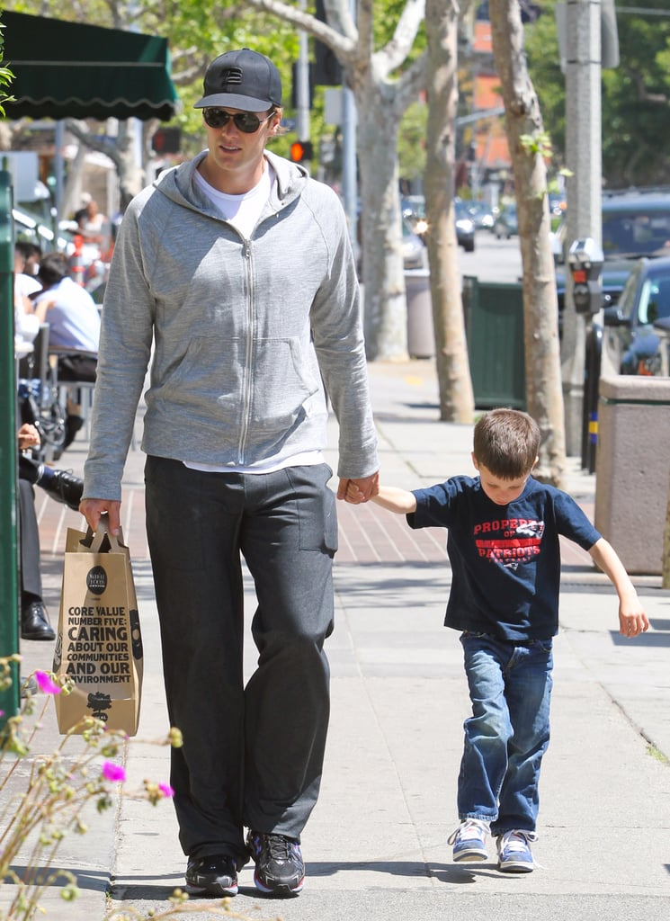 Tom Brady and Jack Moynahan stopped by Whole Foods in Brentwood.
