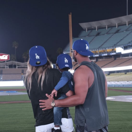 Ciara With Russell Wilson and Son at LA Dodgers Game