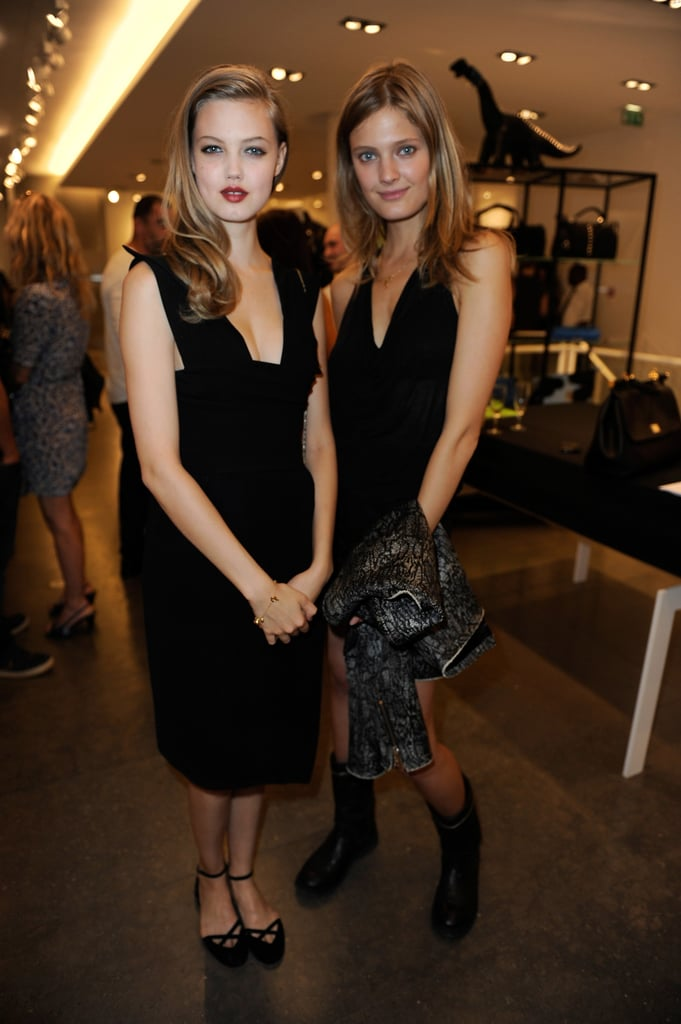 Lindsey Wixson and Constance Jablonski took their time off the runway to attend Terry Richardson and Carine Roitfeld's fete.