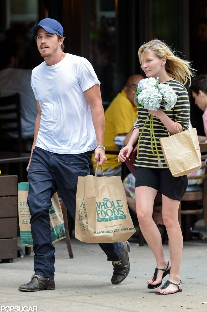 Garrett Hedlund and Kirsten Dunst stopped at Whole Foods in NYC.