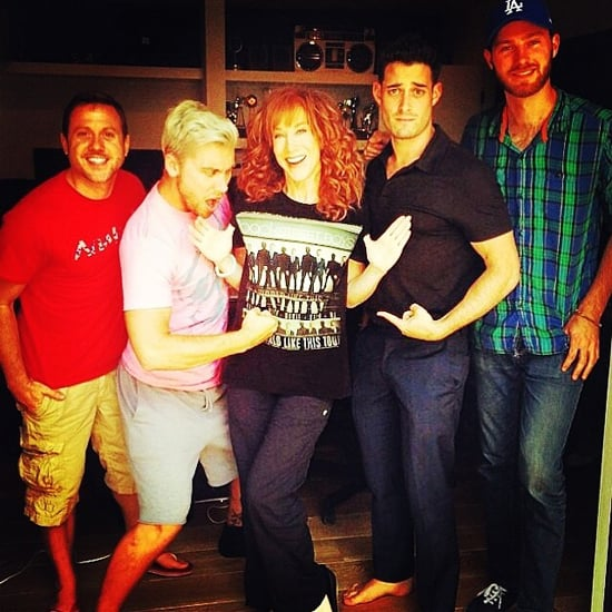 Kathy Griffin Wears a BSB T-Shirt to Lance Bass's Show