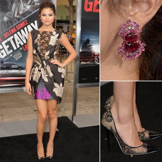 Selena Gomez Vera Wang Dress Getaway Premiere 2013