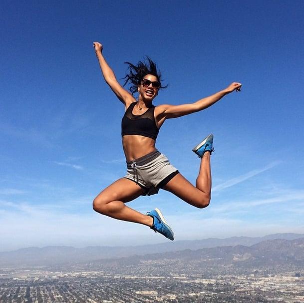 Hannah Bronfman jumped for joy! Source: Instagram user hannahbonfman