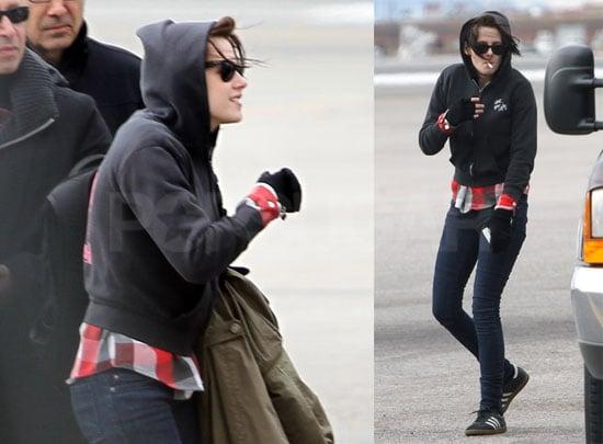 Photos of Kristen Stewart Arriving at Sundance While Robert Pattinson Stays in London