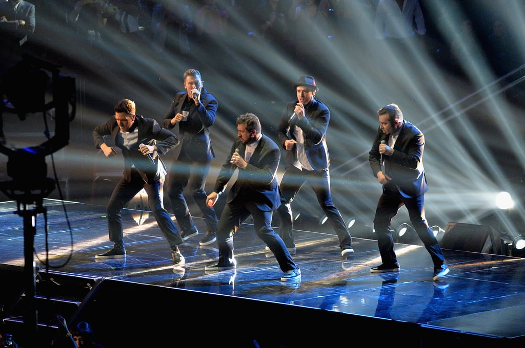 It's the reunion *NSYNC fans all around the world had been waiting for! Justin Timberlake was joined by his former bandmates Lance Bass, JC Chasez, Joey Fatone and Chris Kirkpatrick when he performed a medley of his best hits in 2013.