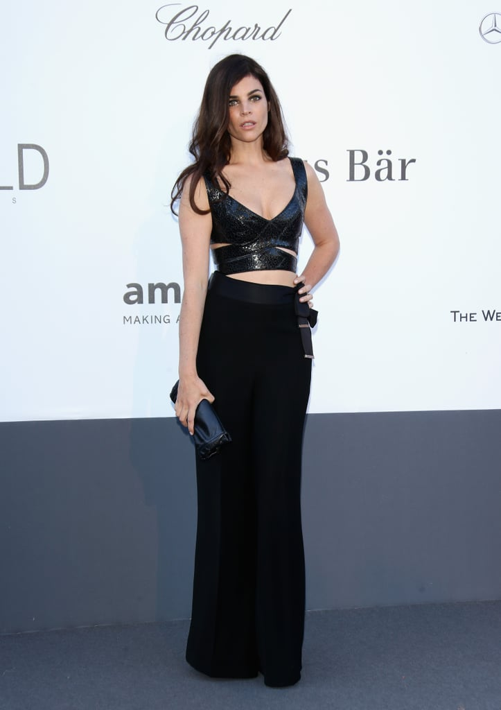 Julia Restoin-Roitfeld showed that you can be sexy and glamorous while still being formal in this shimmering number with strategically placed cutouts.