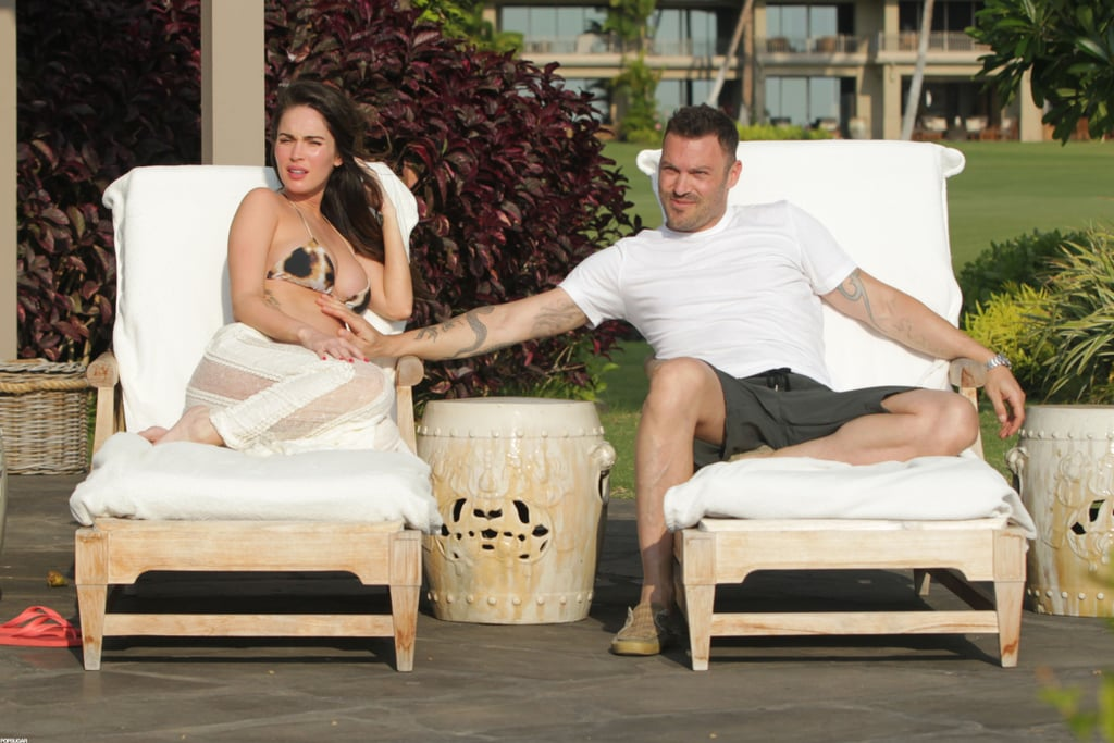 Brian Austin Green reached his hands over to Megan Fox while the couple vacationed in Hawaii.