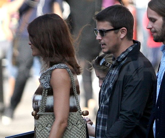 Slide Photo of Josh Hartnett and Helena Christensen Walking in Soho