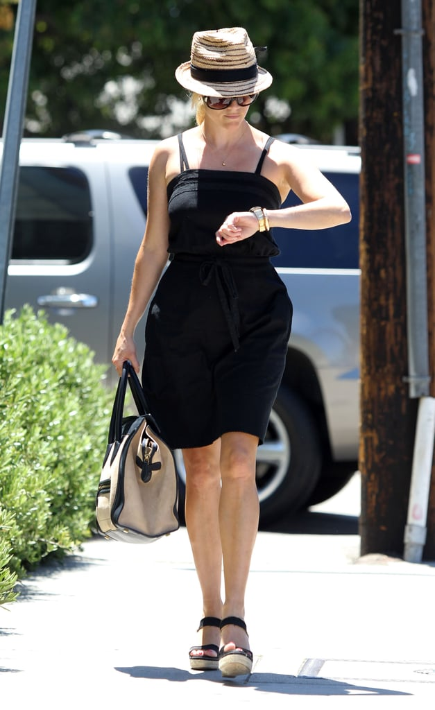 Reese Witherspoon wore a straw fedora.