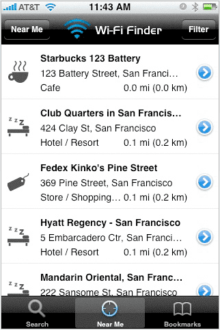 WiFi Finder Is a Free iPhone App That Finds the Nearest Free and Paid WiFi Hotspots