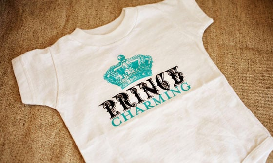 Prince Charming Onesie and Card Set