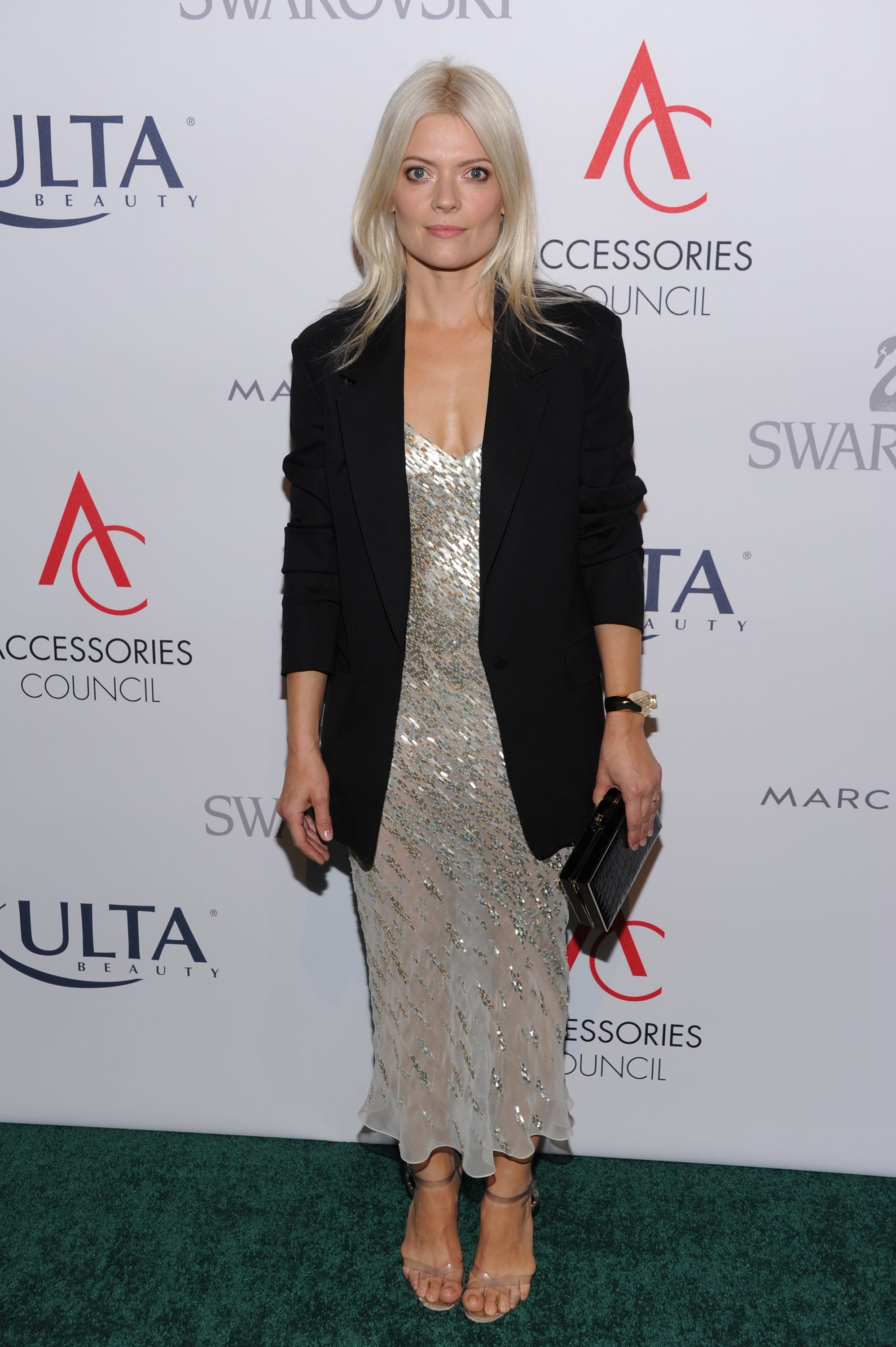 Kate Young picked up her ACE Award in a sparkling cocktail dress at New York's Cipriani.