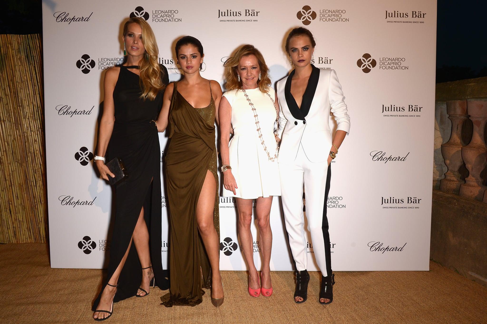 Petra Nemcova, Selena Gomez, Caroline Schuefele, and Cara Delevingne posed together.