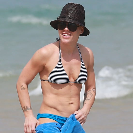 Pink Wearing a Bikini in Miami With Her Family | Pictures